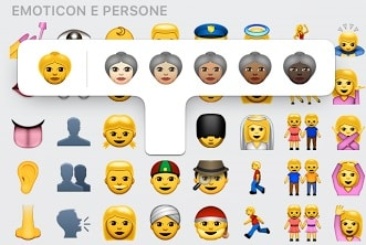 emoticon whatsapp faccine multietniche