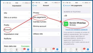 schermata whatsapp su iphone abbonamento illimitato