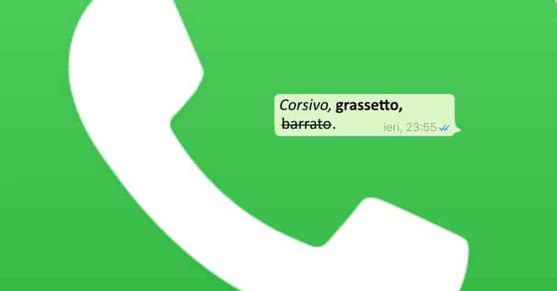 Come scrivere in grassetto, corsivo e barrato su WhatsApp