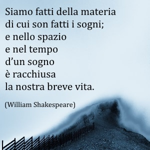 William Shakespeare frase sulla vita