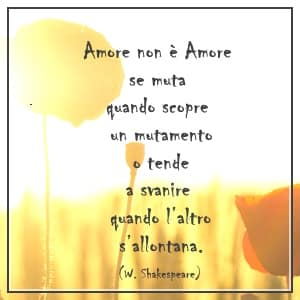 frase amore Shakespeare